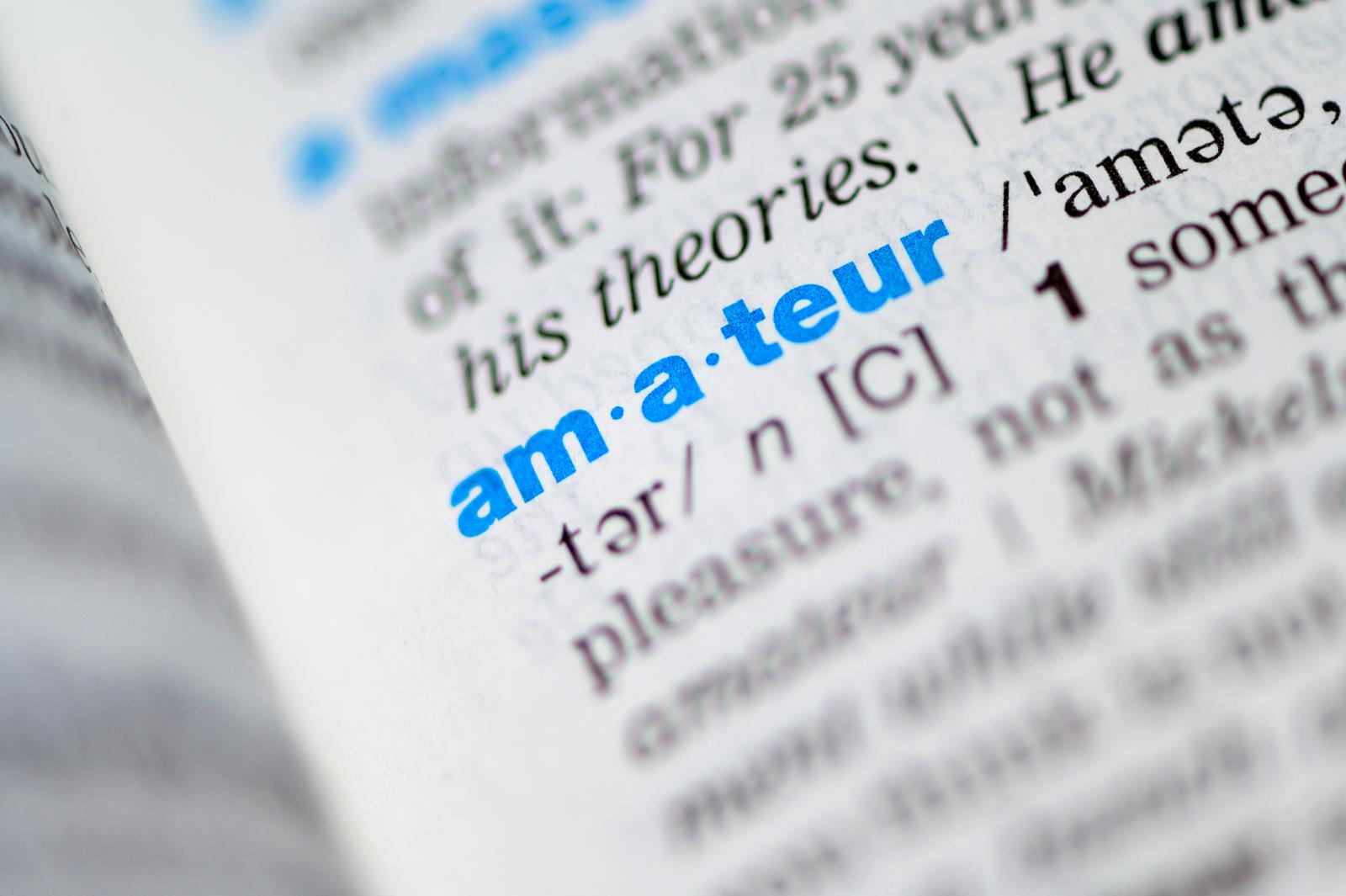 amateur, 辞書の中の写真