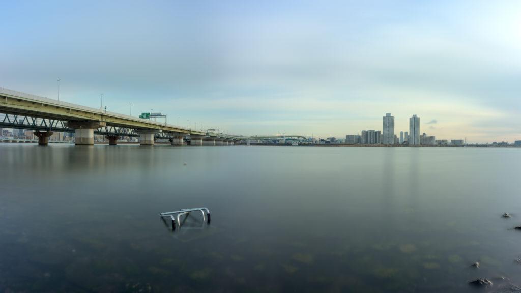 淀川姫島のパノラマ画像